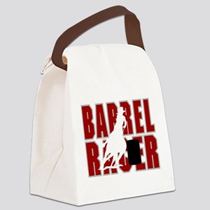 BARREL RACER [maroon] Canvas Lunch Bag